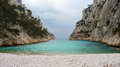 A beautiful calanque with perfect turquoise water Royalty Free Stock Photography