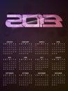 Beautiful calendar design for 2013 Stock Photos