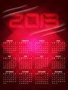 Beautiful calendar design for 2013 Royalty Free Stock Image