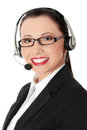 Beautiful Call Center Woman Royalty Free Stock Photography