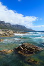 Beautiful camps bay beach and twelve apostles mountain cape town south africa Stock Images