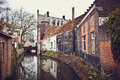 Beautiful canal bruges belgium Stock Photo