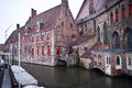 Beautiful canal bruges belgium Royalty Free Stock Images