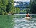 Beautiful canoeing mountain person river Στοκ Εικόνα