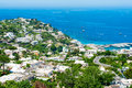 Beautiful capri island town on campania italy is an in the tyrrhenian sea off the sorrentine peninsula on the south side Royalty Free Stock Photos