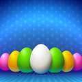 Beautiful card basket eggs Royalty Free Stock Images