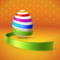 Beautiful card basket eggs Stock Photos