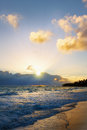Beautiful caribbean sunrise morning sky Stock Images