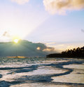 Beautiful caribbean sunrise morning sky Stock Image