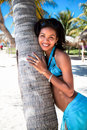 Beautiful caribbean  woman posing Stock Photography