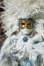 Beautiful Carnival Mask at Venice Carnival, Italy Royalty Free Stock Photo