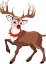 Beautiful cartoon reindeer Rudolf Stock Photos