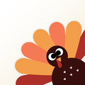 Beautiful cartoon turkey bird happy thanksgiving day with colorful funny vector illustration Stock Photos