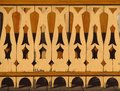 Beautiful carved bannister detail of old wooden Stock Photos