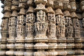 Beautiful Carving at Sun temple at Ranakpur Royalty Free Stock Photo