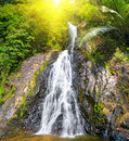 Beautiful cascade waterfall Royalty Free Stock Photo
