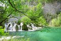 Beautiful cascades in plitvice national park croatia Royalty Free Stock Images