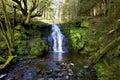 Beautiful cascading waterfall, Nant Bwrefwy, Upper Blaen-y-Glyn Royalty Free Stock Photo