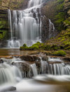 Beautiful Cascading Waterfall In The Yorkshire Dales, England.
