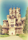 Beautiful castle butron basque country spain vintage style photo Royalty Free Stock Photos