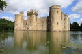Beautiful castle and lake of bodiam summer scenery uk Royalty Free Stock Image
