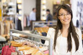Beautiful casual woman shopping retail store Royalty Free Stock Photos