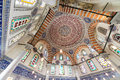 Beautiful ceiling of mehmed iii mausoleum istanbul jul near the hagia sophia in istanbul on july in istanbul turkey Royalty Free Stock Photo