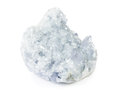 Beautiful celestite druse close up isolated on white Royalty Free Stock Photo