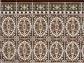 Beautiful ceramic tiles at Fuengirola Spain Royalty Free Stock Photo