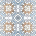 Beautiful ceramic tiles patterns handcraft Royalty Free Stock Photo