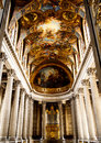 Beautiful chapel in versailles palace painting the france Royalty Free Stock Photos