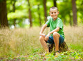 Beautiful child in the forest Royalty Free Stock Images