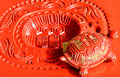 Beautiful Chinese decoration, lucky tortoise sculpture Stock Photography
