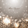 Beautiful christmas background with snowflakes for your design Stock Image
