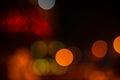 Beautiful Christmas big lights abstract bokeh background, close Royalty Free Stock Photo