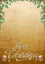 Beautiful Christmas card - poster Royalty Free Stock Photo