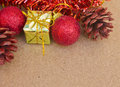 Beautiful christmas decorations and happy new year have gift box accessories celebrations Stock Photos