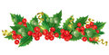 Beautiful christmas garland contains transparent objects eps Stock Photos