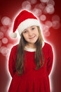 Beautiful Christmas Girl Smiling Royalty Free Stock Image