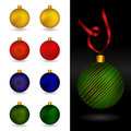 Beautiful christmas ornament balls Royalty Free Stock Images