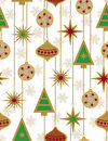 Beautiful Christmas seamless vector patter Stock Photos