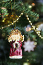 Beautiful Christmas tree decorated with toy Royalty Free Stock Photo