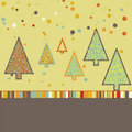 Beautiful Christmas tree illustration. EPS 8 Stock Photography