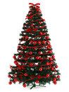 Beautiful christmas tree on white illustration of in a full length image Royalty Free Stock Photography