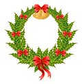 Beautiful christmas wreath Stock Photos