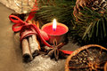 Beautiful Christmas wreath with candles Royalty Free Stock Photo