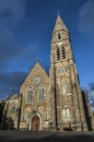 Beautiful church in ireland contrast with the blue sky Royalty Free Stock Photo