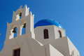 Beautiful church in oia a greek seen santorini Stock Photography