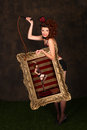 Beautiful Circus Themed Pin Up Sexy GIrl Royalty Free Stock Photography