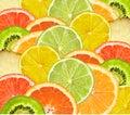 Beautiful citrus fruits of lemon orange grapefruit lime such as fruit background Stock Images